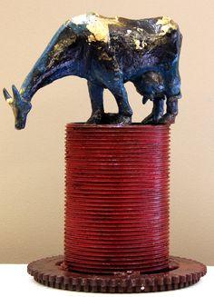 Relentless Ruler -05, P. Gnana, Bronze and Steel, 48 x 53 x 28 cm, 2012