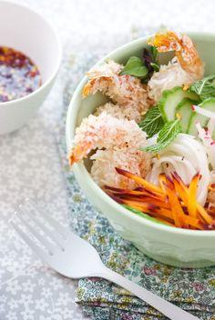 Coconut Shrimp Noodle Salad ~ Is #Yummy #recipe