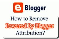 "On this article am going to write basically on how to remove the default Blogger Attributionnamed ""Powered by Blogger"" which appears on all defualtBlogger theme this is an attribute that's created inbuilt on the blogger platform.  But not every body likes to see this attribute appear on thier blog (he or she). Although is a way of giving credit to the wonderful work done by Blogger.  As a newbie usually you don't have problem or issues about this Blogger attribute appearing on your blog but…"