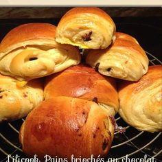 Petits pains briochés au chocolat