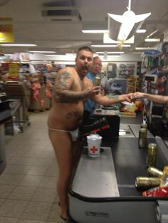 THIS GUY MAY TAKE THE PRIZE AS THE LEAST DRESSED WALMART SHOPPER OF THE YEAR!! VOTE...AC