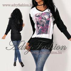 2c04e5a416 WARP Zone fekete-fehér mintás lenge női tunika - AdryFashion női ruha  webáruház, Ruha webshop, Amnesia, NedyN, Rensix , Egyedi ruha