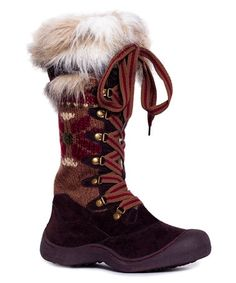 This Brown Snowflake Gwen Tall Snow Boot by MUK LUKS is perfect! #zulilyfinds