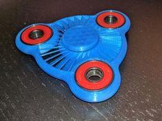 Turbine Fan Spinner by AB-Designs - Thingiverse Figit Spinner, Metal Fidget Spinner, Fidget Cube, Plastic Design, 3d Printer, Impression 3d, Reduce Stress, Cool Stuff, Cubes