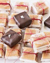 Chocolate-Dipped Vanilla Caramels // More Caramel Recipes: http://www.foodandwine.com/slideshows/caramel-recipes #foodandwine