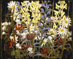 Wildflowers Tom Thomson - 1915 McMichael Canadian Art Collection (Canada) Oil Painting Height: cm in. Canadian Painters, Canadian Artists, Tom Thomson, Group Of Seven, Collage Techniques, Animals Of The World, Famous Artists, New Art, Flower Art