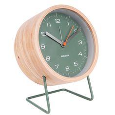 Silent Alarm Clock D Karlsson Innate Alarm Clock Black Face With Wood Surround