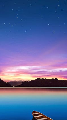 Nice night scenery. Calm your mood with these 10 Peaceful Evening Scenery iPhone Wallpapers. - @mobile9 #nature #landscape #backgrounds