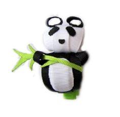 Panda-Panda Ribbon Sculpture