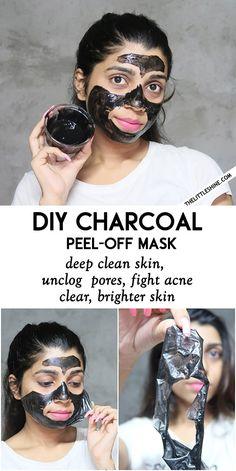 charcol-mask-3 Natural Hair Mask, Natural Hair Styles, Charcoal Peel Off Mask, Scalp Scrub, Skin Detox, Unclog Pores, Homemade Skin Care, Blackhead Remover, Hair Health