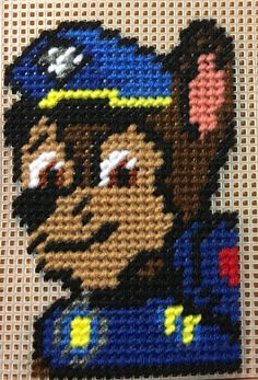 Cross Stitch Paw Patrol (CHASE) by me Marcelle Powell ❤️