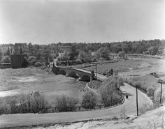 Old Mill Rd., bridge across Humber River between Catherine St. & Old Mill Rd., May Photo attributed to Stuart Logan Thompson. - Courtesy of the Toronto Public Library. Toronto City, Landscape Photos, Back In The Day, Old Pictures, City Photo, Bridge, The Past, Old Things, Canada