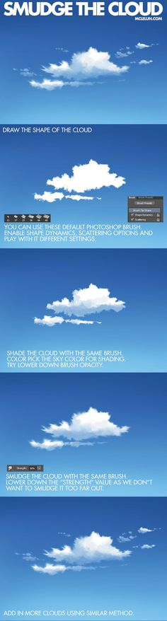 Photoshop brush settings for anime cloud painting