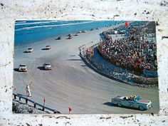 NASCAR Racing On The Beach Postcard from Daytona Beach
