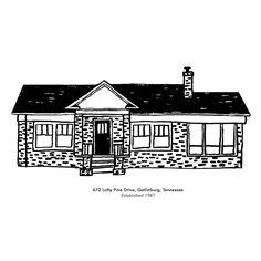 Custom House Portrait Archival Print - product image