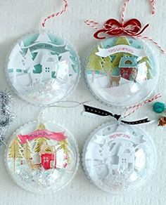 Naice 100mm Boule de Noël Boule de décoration Transparent Fillable Ball Ornament Noel en Plastic Acrylic-Pack of 12: Amazon.fr: Cuisine & Maison