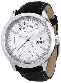 84 e Festina - F16573/1 - Montre Homme - Quartz Analogique - Bracelet Cuir Noir