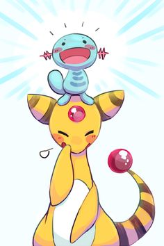 Wooper and Ampharos