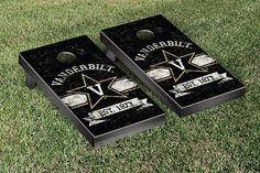 Vanderbilt Commodores Rustic Established Banner Cornhole Game