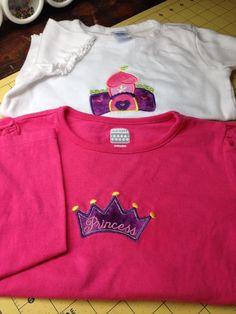 Princess Castle and Tiara shirts