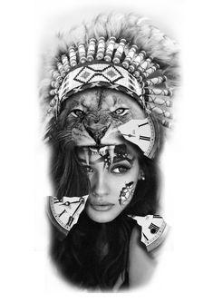 tattoo man templates skull – tattoos for women half sleeve Cover Up Tattoos, New Tattoos, Girl Tattoos, Tattoos For Guys, Half Sleeve Tattoos Designs, Tattoos For Women Half Sleeve, Tattoo Designs, American Indian Girl, Native American Women