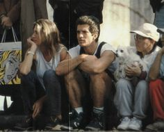 This was in November 1993 and they were watching the NY Marathon together: