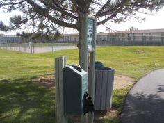 Dog poop bag dispenser station with solar led light solar led pt 309 dog poop station at nampa idaho rec center what about a diy solutioingenieria