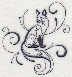 Inky Fox Sitting