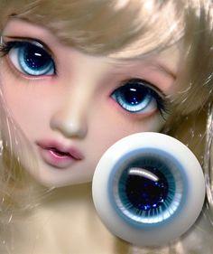 Good Light Brown Iris with Stripes 18mm Glass Eyes for Reborn//newborn BJD Doll
