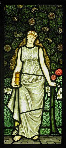 William Morris Four Seasons Window :: Summer. Art Nouveau.