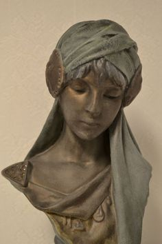 Antique French Art Nouveau Plaster Bust of SCHEHERAZADE.