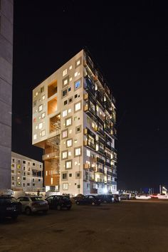 student housing tower: arkitema architects