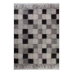 Teppich Retro Creative - Grau / Schwarz - 155 x 230 cm