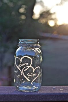 Mason Jar Sand Ceremony Love Jar Mason Jar by EtchedExpressions, $9.50