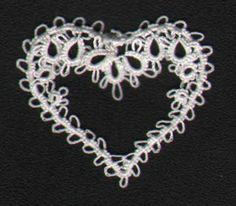 Elegant Heart Tatting Pattern