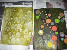 more homemade stamp texture ideas with wonderful results
