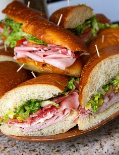 Italian Hoagies — Lady By The Bay - Sandwiches World 2020 Hoagie Dip, Hoagie Sandwiches, Cold Sandwiches, Mortadella Sandwich, Italian Sandwiches, Lunch Recipes, Great Recipes, Cooking Recipes, Favorite Recipes