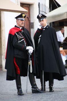 Carabinieri is the national military police of Italy. Uniform Dress, Army Uniform, Men In Uniform, Mens Cape, Italian Police, Male Kimono, Hot Cops, Police Uniforms, Suit Of Armor
