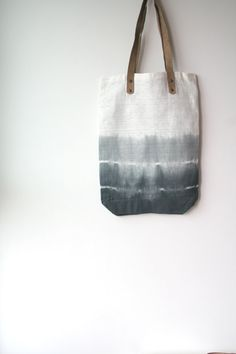 coin bolsos - chacoal black tie dye on soft cotton tote . shopping tote. summer tote. beach tote. minimalist tote