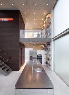Kitchen Island, Rieteiland House in Amsterdam by Hans van Heeswijk Architects