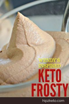 Wendy's Chocolate Frosty This Wendy's inspired Keto Frosty tastes even better than the real thing! Suck a yummy keto dessert!This Wendy's inspired Keto Frosty tastes even better than the real thing! Suck a yummy keto dessert! Ketogenic Diet, Ketogenic Recipes, Low Carb Recipes, Ketogenic Deserts, Coconut Flour Recipes Keto, Easy Keto Recipes, Cream Cheese Keto Recipes, Keto Desert Recipes, Diet Recipes