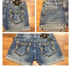 Miss me jean shorts floral printed