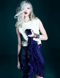 Earrings, Bracelets & Cuff Kara by Kara Ross, Leather Top Costume National, Skirt Missoni