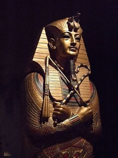 Replica of King Tutankhamun's Mummy Case at the Rosicrucian Egyptian Museum