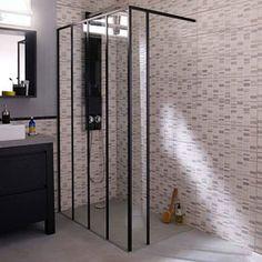 Douche à l\'italienne avec installation d\'une paroi de douche style ...