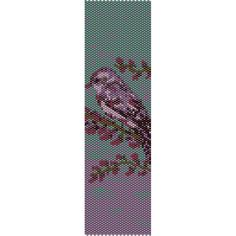 Purple Bird Peyote Bead Pattern, Bracelet Cuff, Bookmark, Seed Beading Pattern Miyuki Delica Size 11 Beads - PDF Instant Download by SmartArtsSupply on Etsy