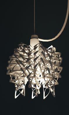 3D printed lamp pendant chandelier by Studio Luminaire | 3D ...
