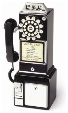 I haven't seen one of these in awhile. We didn't have cell phones- but could always bum a dime to call home!