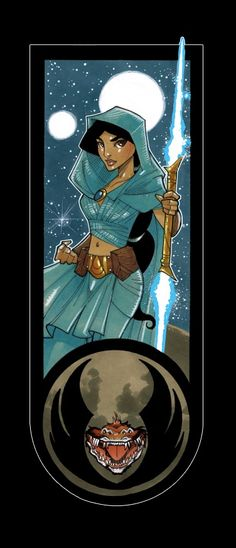 jasmine and all the other Disney princesses as Jedi. These are really well done!