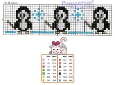 Bordados Ponto Cruz: Gráfico Pinguins pescando em ponto cruz.  #pontocruz #pontodecruz #bordados #artesanato #graficos #graficospontocruz #crossstitch